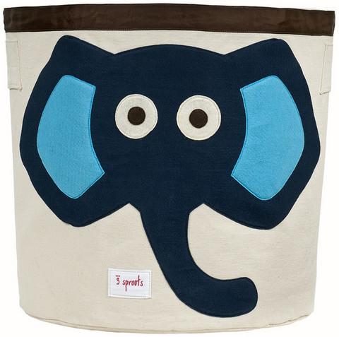 3 Sprouts Iso Säilytyskori Sininen Elefantti