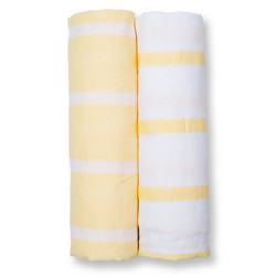 Lulujo Harsoliinat 2 kpl, Yellow Stripes, Modern Me Collection