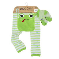 Zoocchini leggingsit + sukat setti (Flippy the Frog)