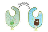 FlapJackKids Kaksipuolinen ruokalappu Frog/Bear