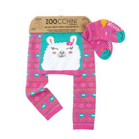 Zoocchini leggingsit + sukat setti (Laney The Llamm)