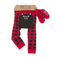 Zoocchini leggingsit + sukat setti (Bosley the Bear)