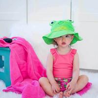 Zoocchini uimavaippa- ja aurinkohattusetti, Flippy The Frog