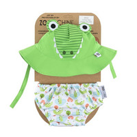 Zoocchini uimavaippa- ja aurinkohattusetti, Aidan The Alligator