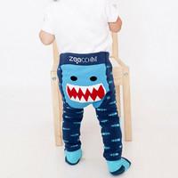 Zoocchini leggingsit + sukat setti (Sherman The Shark)