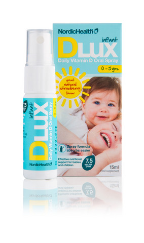 DLUX Infant 7,5 mcg D3 Vitamiinisuihke 15 ml (3053)