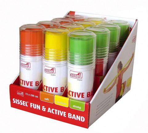 SISSEL® Fun & Active Band/Nauha Myyntiteline 15 kpl (163.210)