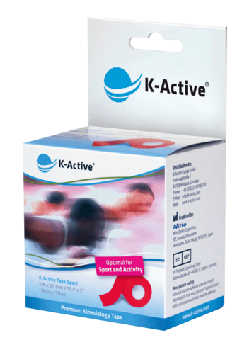 K-Active SPORT Kinesioteippi 50mm x 5m,  1 rulla