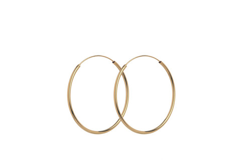 Korvakorut PLAIN HOOPS 40 mm, kulta