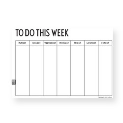 Design Letters Weekly Planner, valkoinen A4