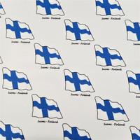 Suomen lippu trikoopala 52 x 54 cm