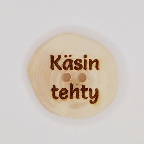 Käsin tehty puinen merkki