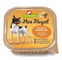 GranataPet Mini Royal -kanaa ja katkarapuja, kurpitsaa, basilikaa ja pellavaöljyä