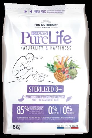 PureLife Sterilized 8+ Ankka ja Siika 8kg