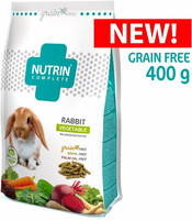 NUTRIN Complete - Grain free - rabbit vegetable  - Viljaton 400g
