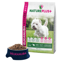 Eukanuba NaturePlus+ Adult Small Lamb- pienelle koiralle 10kg