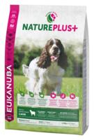 EUKANUBA Nature Plus+  Lammas Adult Medium Breed Dog Food Rich in Freshly Frozen Lamb -keskikokoisille koirille
