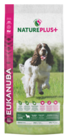 EUKANUBA Nature Plus+  Lammas Adult Medium Breed Dog Food Rich in Freshly Frozen Lamb -keskikokoisille koirille 14kg