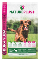 EUKANUBA Nature Plus+  Lammas Puppy & Junior Dog Food Rich in Freshly Frozen Lamb 14kg
