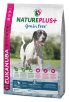 EUKANUBA NaturePlus+ Viljaton  Lohi Adult All Breed Dog Food Rich in Freshly Frozen Salmon 2,3kg