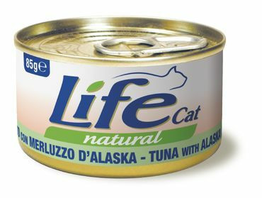 LifeCat Natural Tonnikala & Alaskanturska 85g