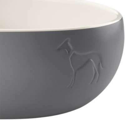 Ceramic bowl Lund - koiran ruokakuppi 350ml Harmaa
