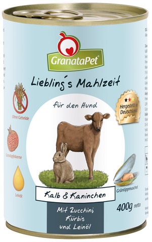 GranataPet vasikka ja kaninliha kesäkurpitsalla, kurpitsalla ja pellavaöljyllä