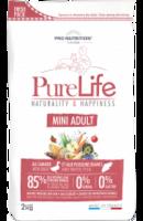PureLife Mini adult 85 % Eläinproteiinia 0% Gluteenia, 0% viljaa 2kg