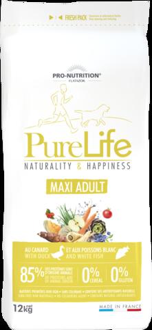 PureLife Maxi Adult 12kg, 85% Eläinproteiinia, 0% viljaa 0% Gluteiinia
