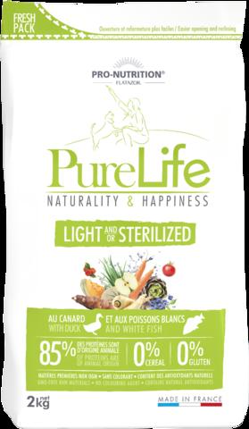 PureLife Light & Sterilized 85% Eläinproteiinia 0% Viljaa 0% Gluteiinia