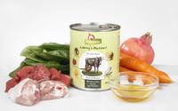 GranataPet naudanliha ja fasaani porkkanoilla, pinaatilla ja safroniöljyllä. 400g