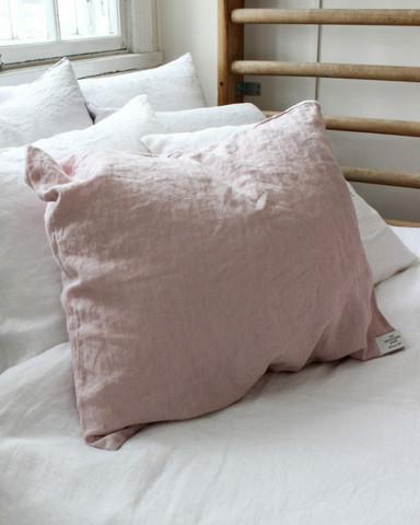 Heaven Linen tyynyliina 50x60cm kivipestyä pellavaa väri  utuinen roosa
