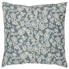 Ib Laursen sinivalkoinen  nostagiset kukat  sisustustyynynpäällinen  50 x 50 cm