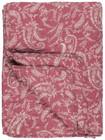 Ib Laursen torkkupeitto vadelmanpunainen vaaleilla  kuvioilla