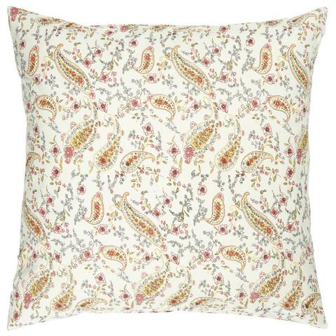 Ib Laursen paisley- ja kukkakuvioinen vaalea  tyynynpäällinen 50 x 50 cm