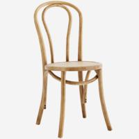 Puinen tuoli jalavaa, rottinkinen istuinosa