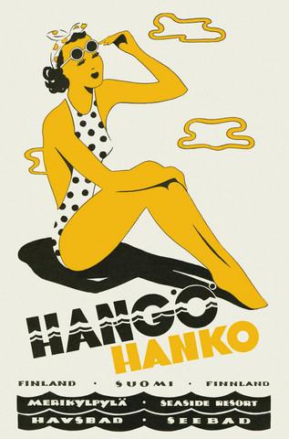 Come to Finland Hangon lady juliste 50x70 cm