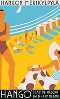 Come to Finland Hanko seaside resort juliste 50x70 cm