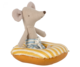 Maileg rantahiiret-sarja kumivene keltaraita