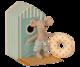 Maileg rantahiiret-sarja pikkuveli uimakopissa