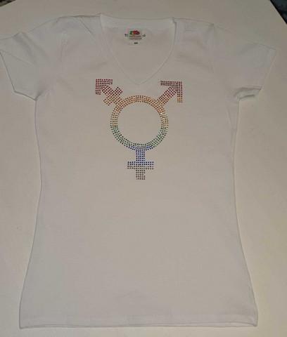 Pride Transgender Paita -Valkoinen