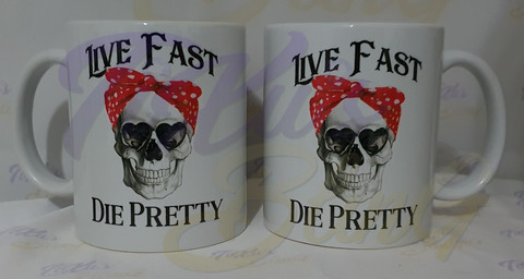 Live Fast - Die Pretty - Color Bow
