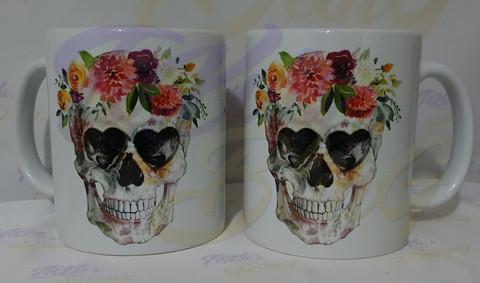 Garland Skull - Kukkaseppele kallo kahvikuppi