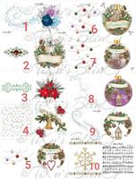Kannellinen joulukortti + kuori, neliö