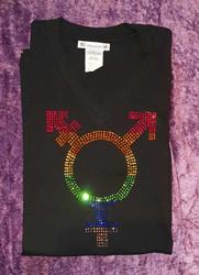 Pride Transgender Paita (Miesten, musta)
