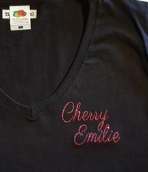 Custom tilattu HTVGlitter  paita