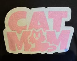 Cat Mom Glitter Vinyyli - Kaksi värinen kuva