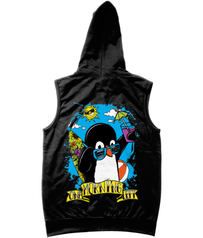 One Morning Left - Penguin - Sleveless Zipper Hoodie
