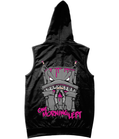 One Morning Left - Piano - Sleveless Zipper Hoodie