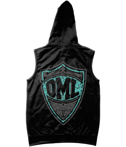 One Morning Left - Shield - Sleveless Zipper Hoodie
